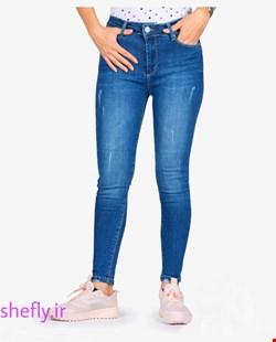 شلوار جین آبی سایز بزرگ